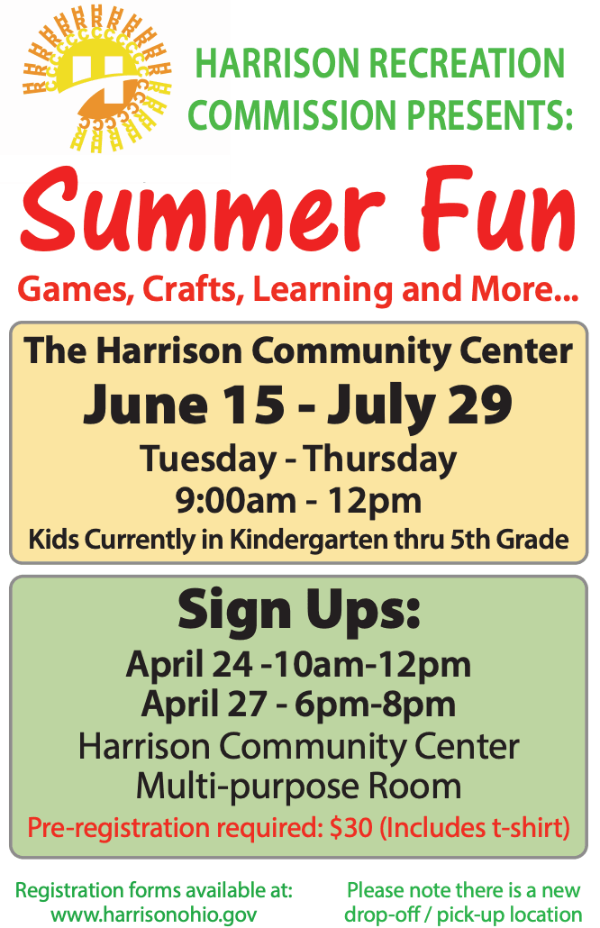 harrison summer fun 2021 flier