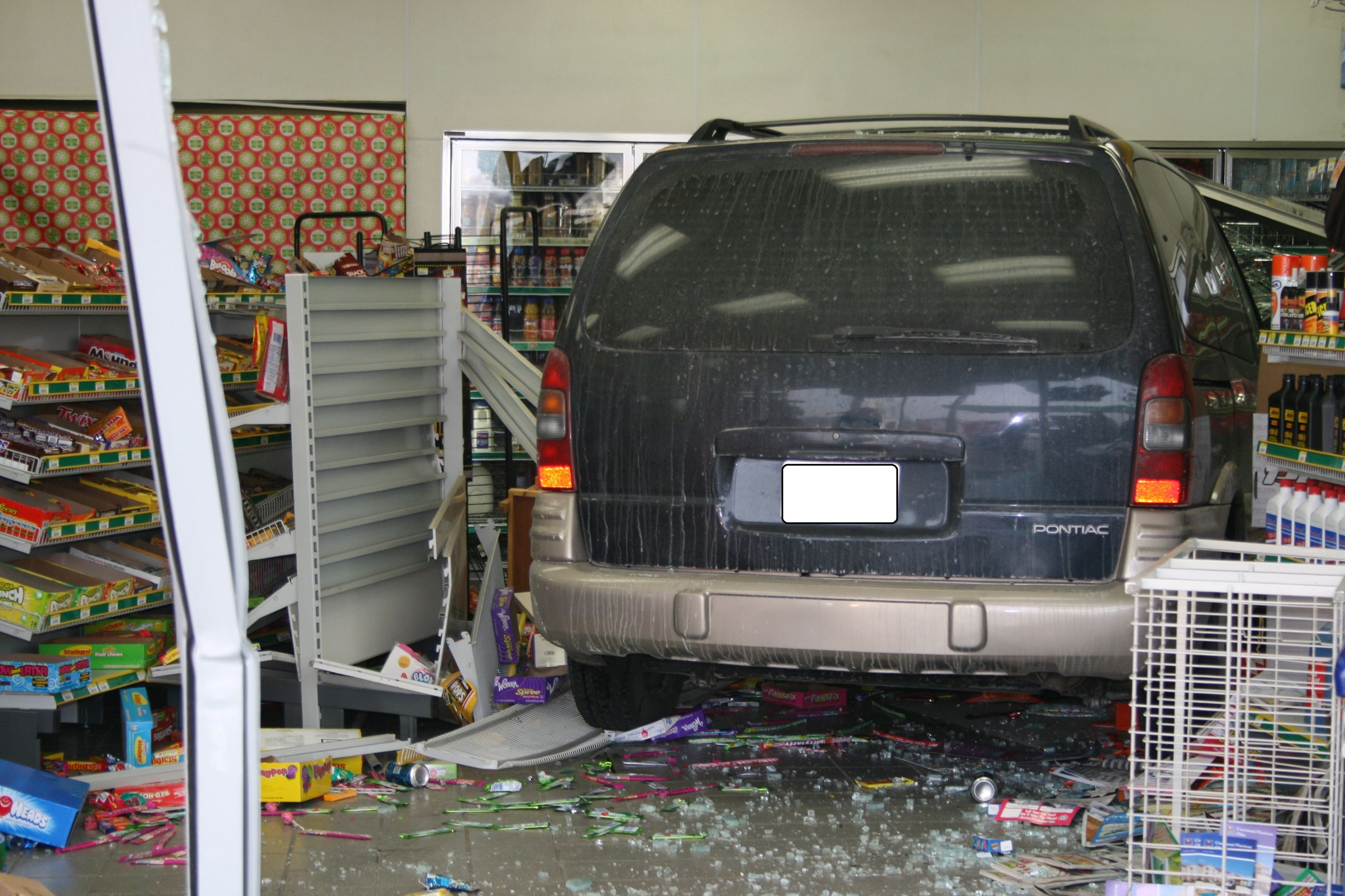 Vehicle into a building 2010