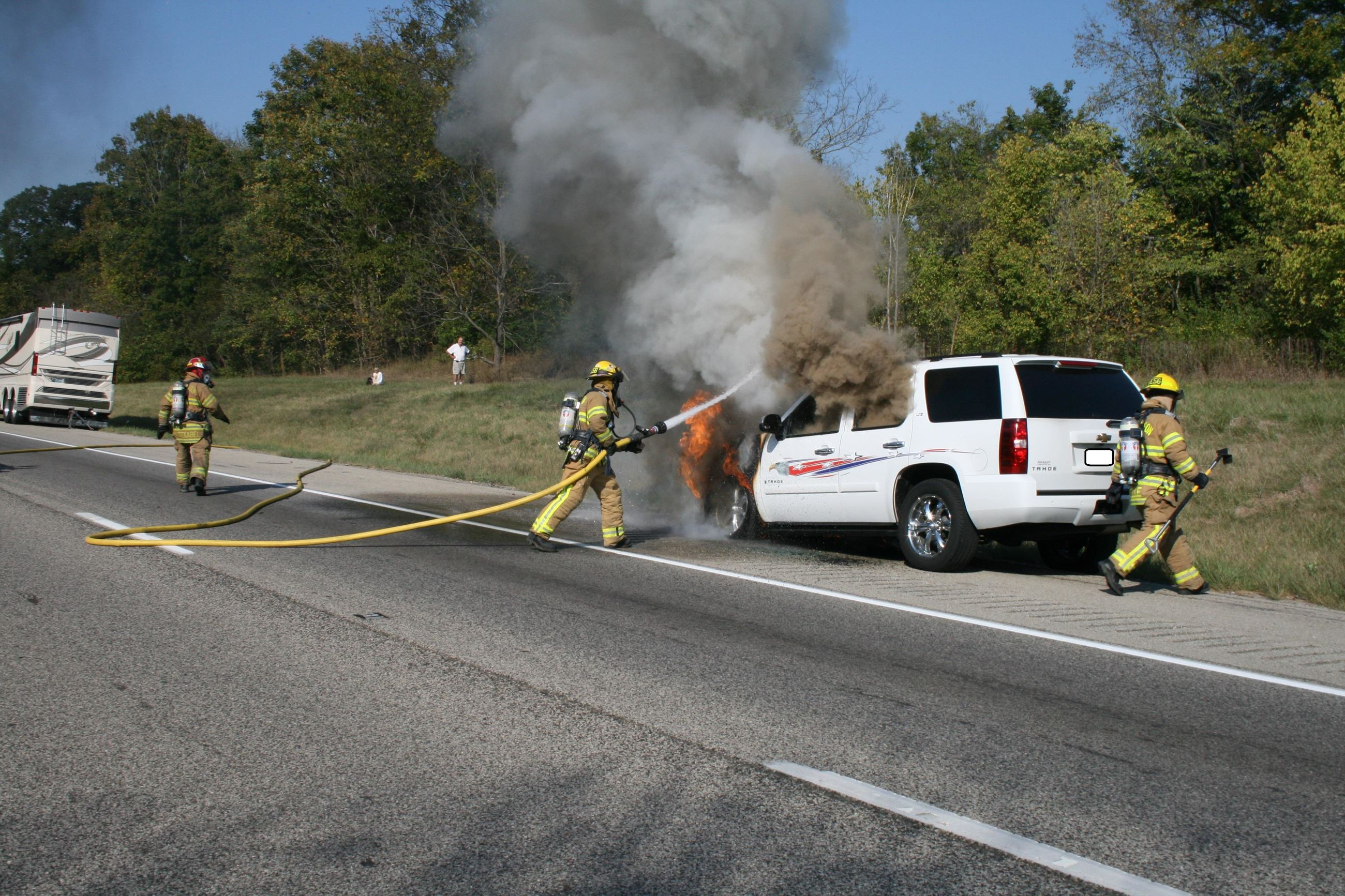 Vehicle Fire on I74